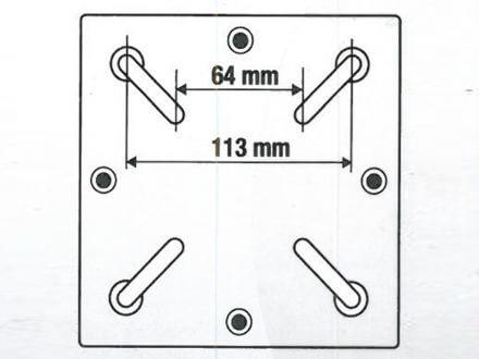 Vorschau: Technische Zeichnung Adapter für Bodenständer