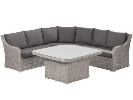 Kettler Madrid Casual Dining Set Beach-grey