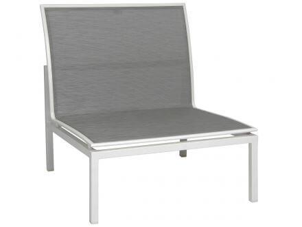 Stern Skelby Lounge-Mittelelement Aluminium mit Textilenbezug