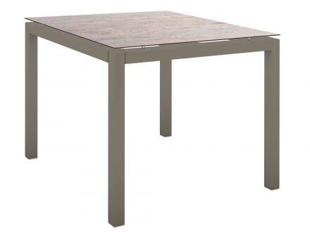 Stern Gartentisch 90x90cm Aluminium taupe/Silverstar 2.0 Sand