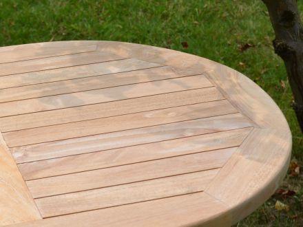 Vorschau: Lünse Teakholz Klapptisch Silfia 90x60cm oval