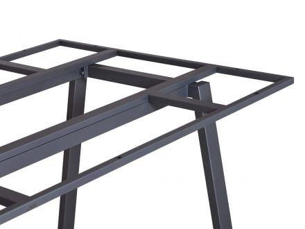 Vorschau: Lünse Tischgestell Locarno Edelstahl graphit 220x100cm