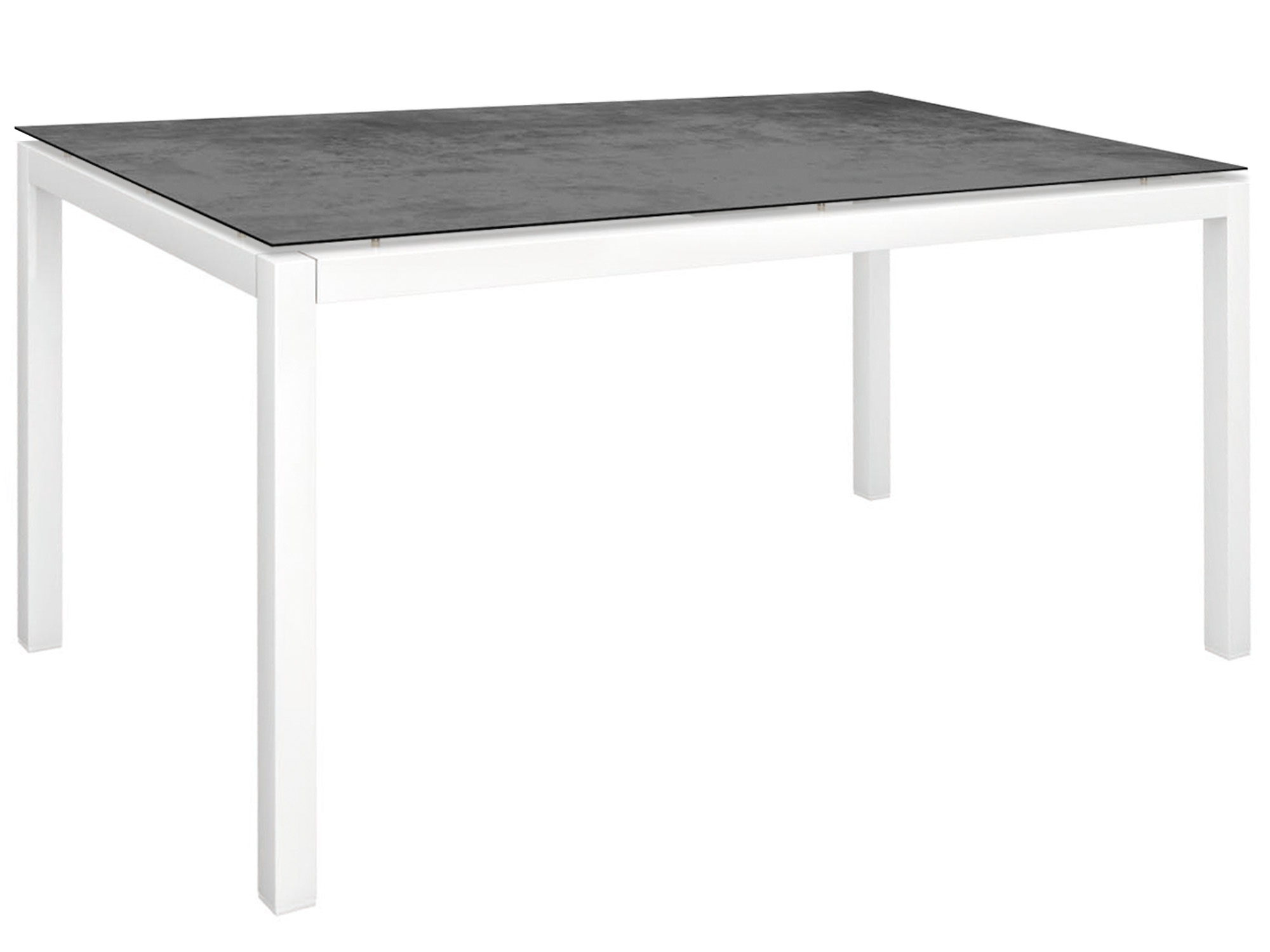 Stern Gartentisch 160x90cm Aluminium Weiss Silverstar 2 0