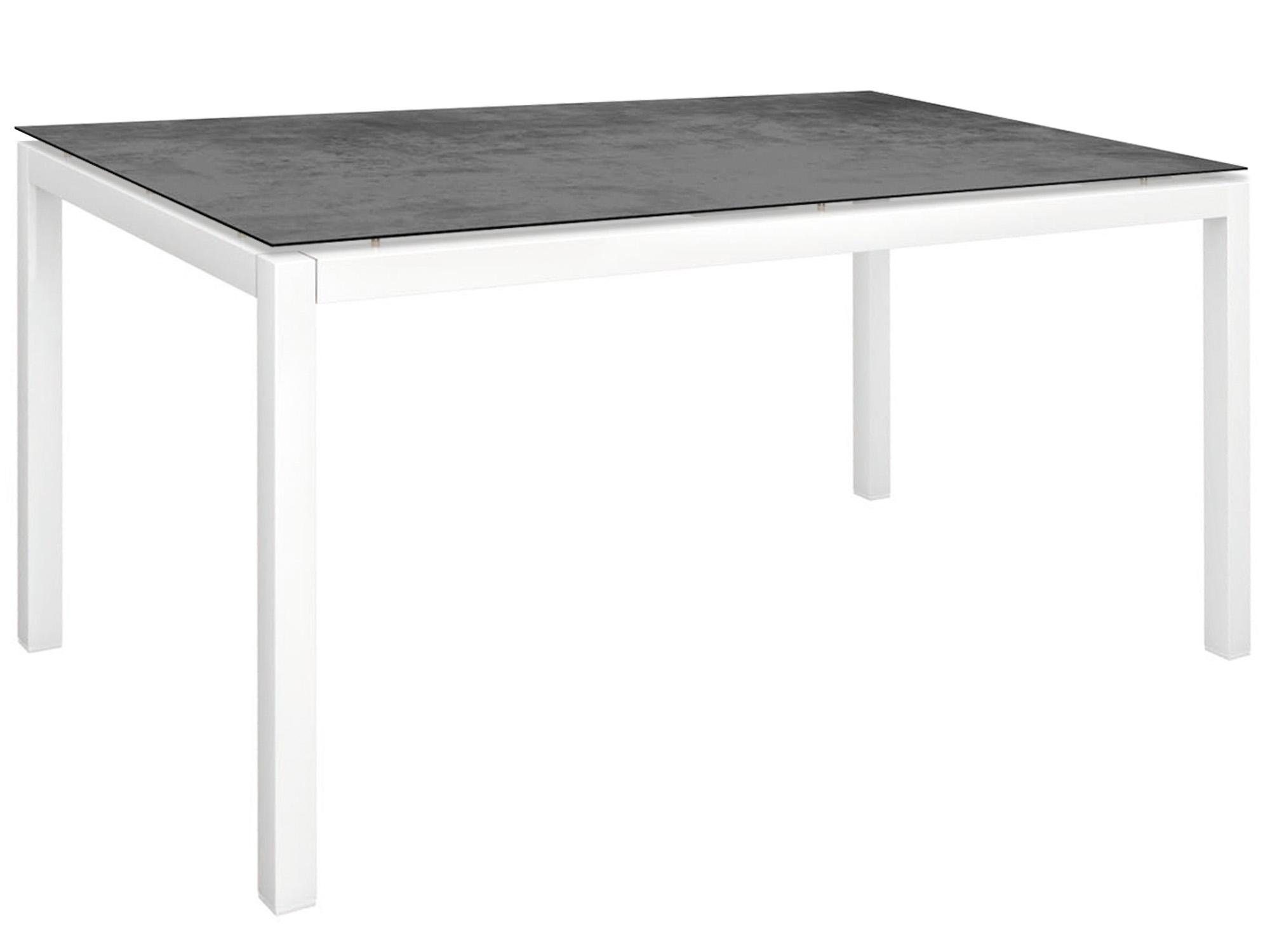stern gartentisch 130x80cm aluminium wei silverstar 2 0 gartenm bel l nse. Black Bedroom Furniture Sets. Home Design Ideas