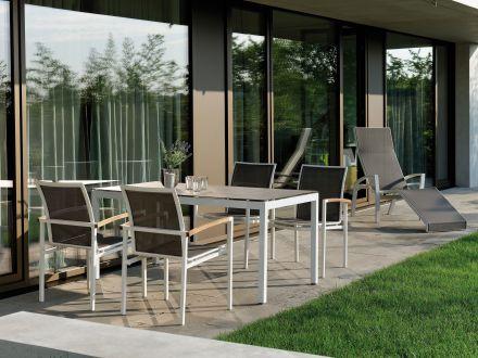 stern gartentisch 160x90cm aluminium wei silverstar 2 0 gartenm bel l nse. Black Bedroom Furniture Sets. Home Design Ideas