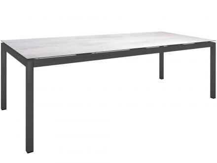 Vorschau: Stern Gartentisch 250x100cm Aluminium anthrazit/Silverstar 2.0 Zement hell