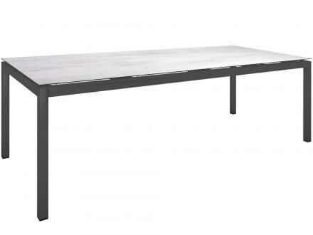 Stern Gartentisch 250x100cm Aluminium anthrazit/Silverstar 2.0 Zement hell