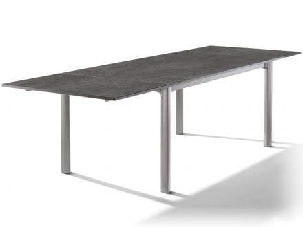 Sieger Verlängerungstisch 165/225/285x95cm graphit/Beton dunkel