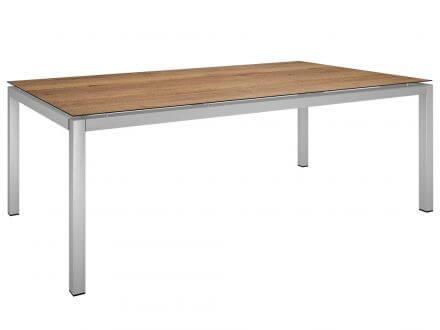 Stern Gartentisch 200x100cm Edelstahl Vierkantrohr / Touch Tundra Toffee