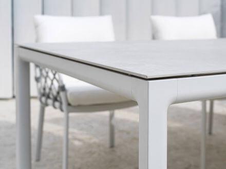 Vorschau: 1x Soft Ausziehtisch 160/210/260x100cm Alu white Keramik basalt anthracite