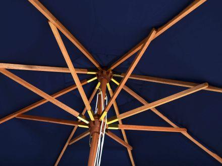 Vorschau: Holz Sonnenschirm Venezia edle Holzkrone