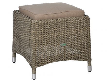 Geflecht Hocker Long Island taupe