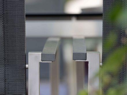 Vorschau: Stapelsessel Evoee mit Aluminiumarmlehnen