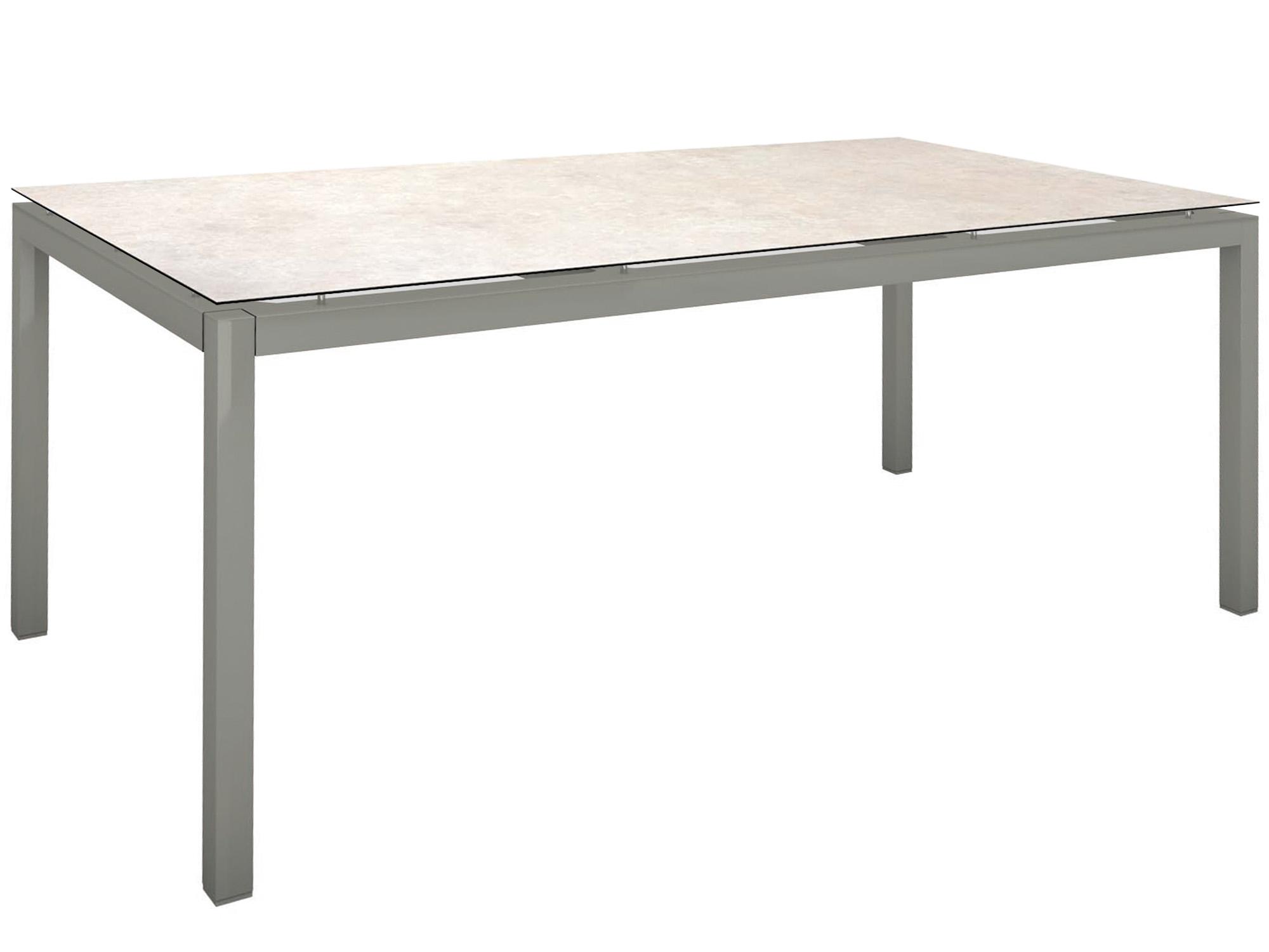 Stern Gartentisch 200x100cm Aluminium Graphit Silverstar 20 Tundra Grau