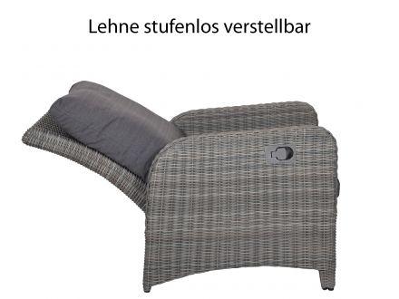 Vorschau: Loungesessel mit stufenlos verstellbarer Lehne
