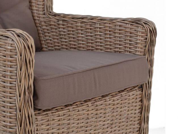 Geflecht Gartensessel inkl. komfortabler Sitz- & Rückenpolsterung