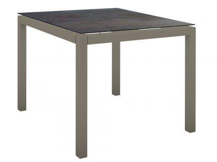 Stern Gartentisch 90x90cm Aluminium taupe/Silverstar 2.0 Nitro