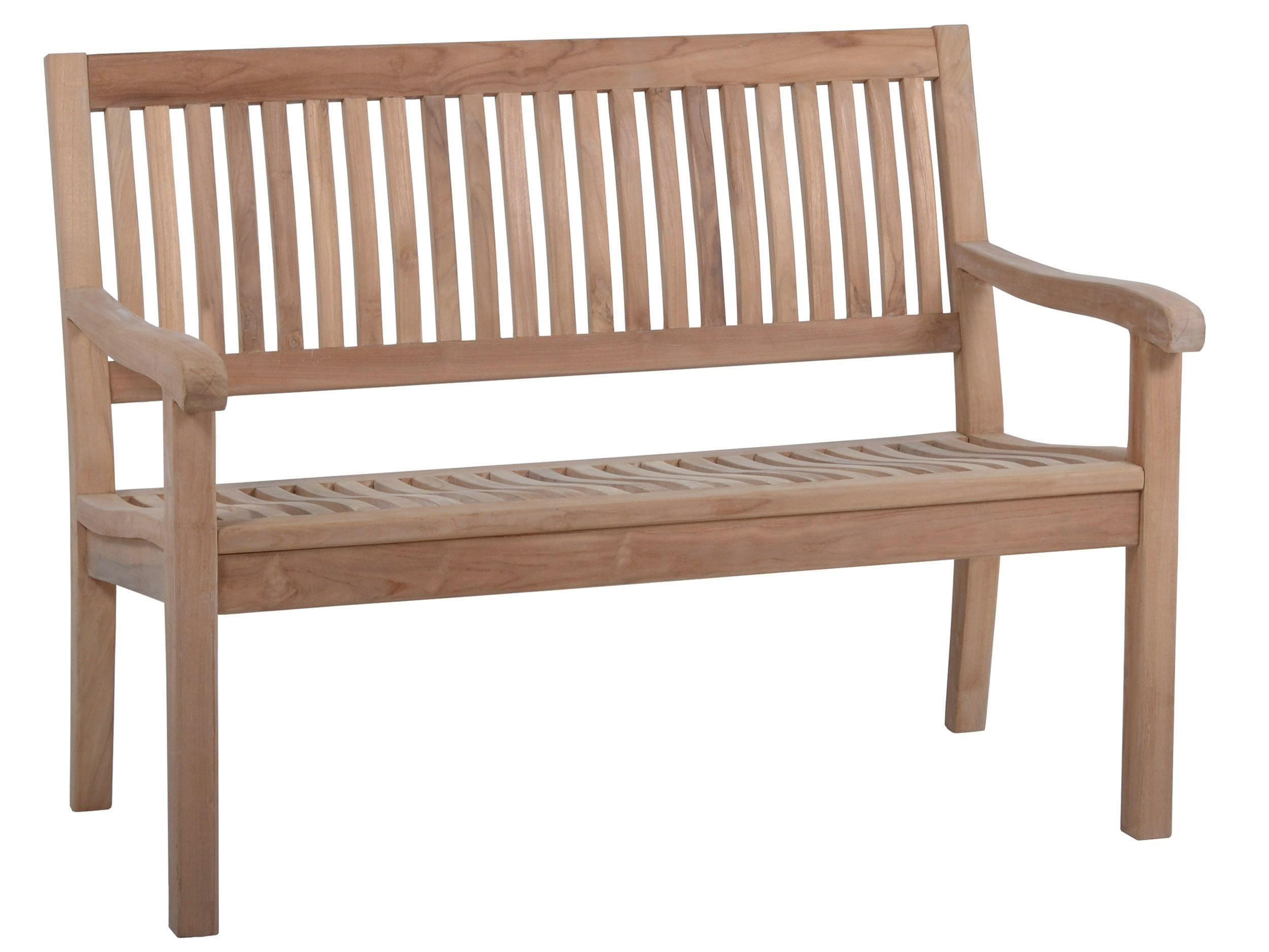 Teakholz Gartenbank Coral 120cm - 2-Sitzer | Gartenmöbel Lünse