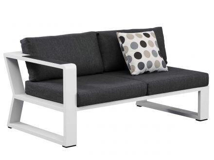 Vorschau: Lünse 5-teilige Alu Eck-Loungegruppe Lovina white