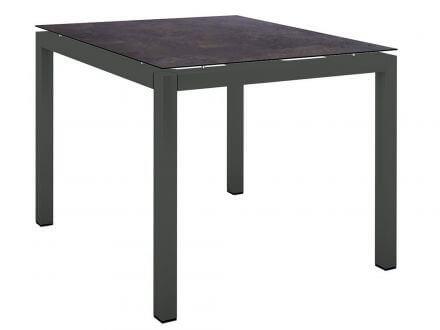 Stern Gartentisch 90x90cm Aluminium anthrazit/Silverstar 2.0 Vintage braun