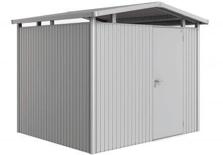Gerätehaus Panorama® P3 silber-metallic mit Standardtüre