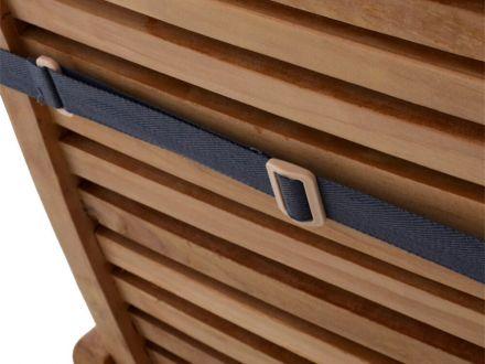 Vorschau: Deckchair Auflage mit Haltebändern rückseitig