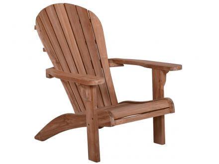 Vorschau: Lünse Teak Adirondack Chair Silfia mit Fußhocker
