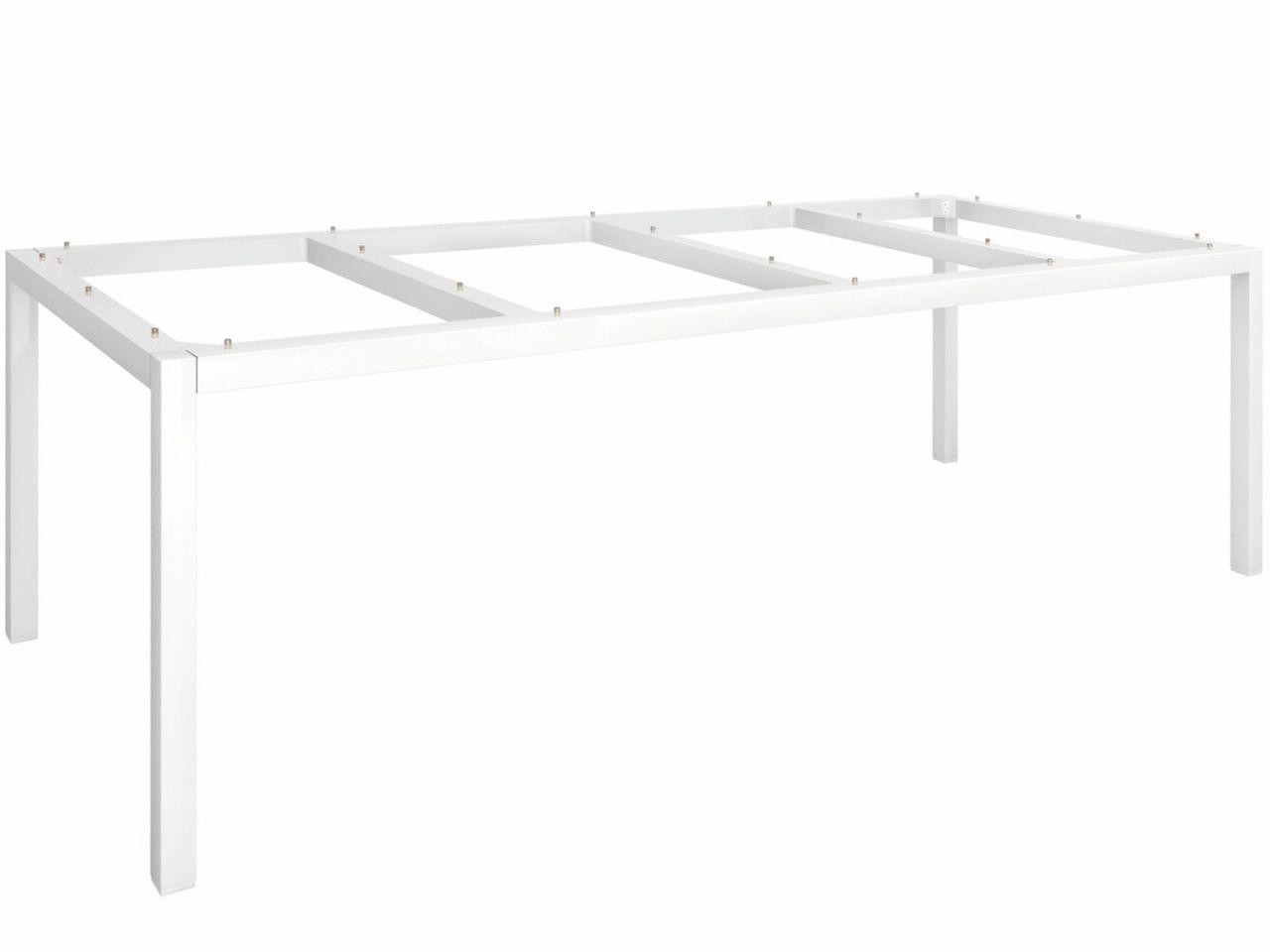 Stern Tischgestell Aluminium Vierkantrohr 250x100cm weiß