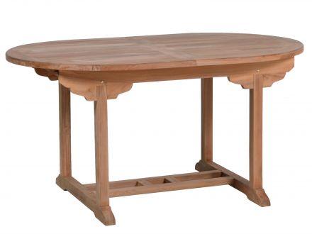 Gartentisch Teak Oval Ausziehbar 150 210x100cm Gartenmobel Lunse