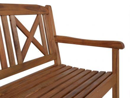 Vorschau: Lünse Holz Gartenbank Bali 158cm 3-Sitzer