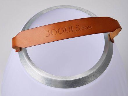 Vorschau: Gartenleuchte Joouly mit Tragegriff aus Rindsleder