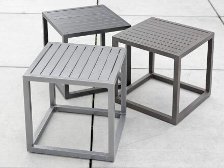Vorschau: STERN Beistelltisch Robin Aluminium 40x40x40cm