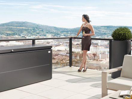 Vorschau: Biohort LoungeBox 200 dunkelgrau-metallic Ambientebild
