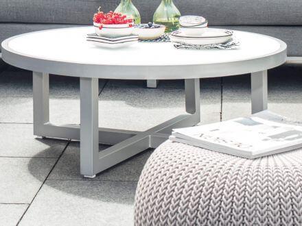 Vorschau: EGO Lounge Tisch Ø92cm silber