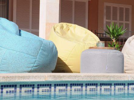 Vorschau: Ikoonz Outdoor Hocker Rondo small Ø60cm Stoff Lounge