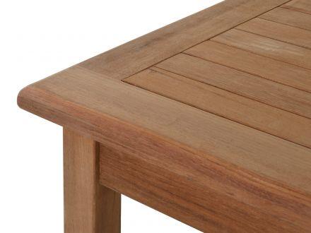 Vorschau: Lünse Teak Holz Gartentisch Clipper 150x90cm