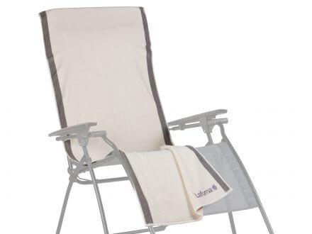 Lafuma Frotteeauflage/Handtuch ecru für Relaxliege