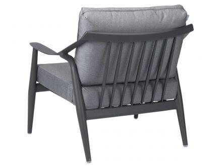 Vorschau: Stern Vanda Lounge-Sessel anthrazit mit Auflage seidengrau