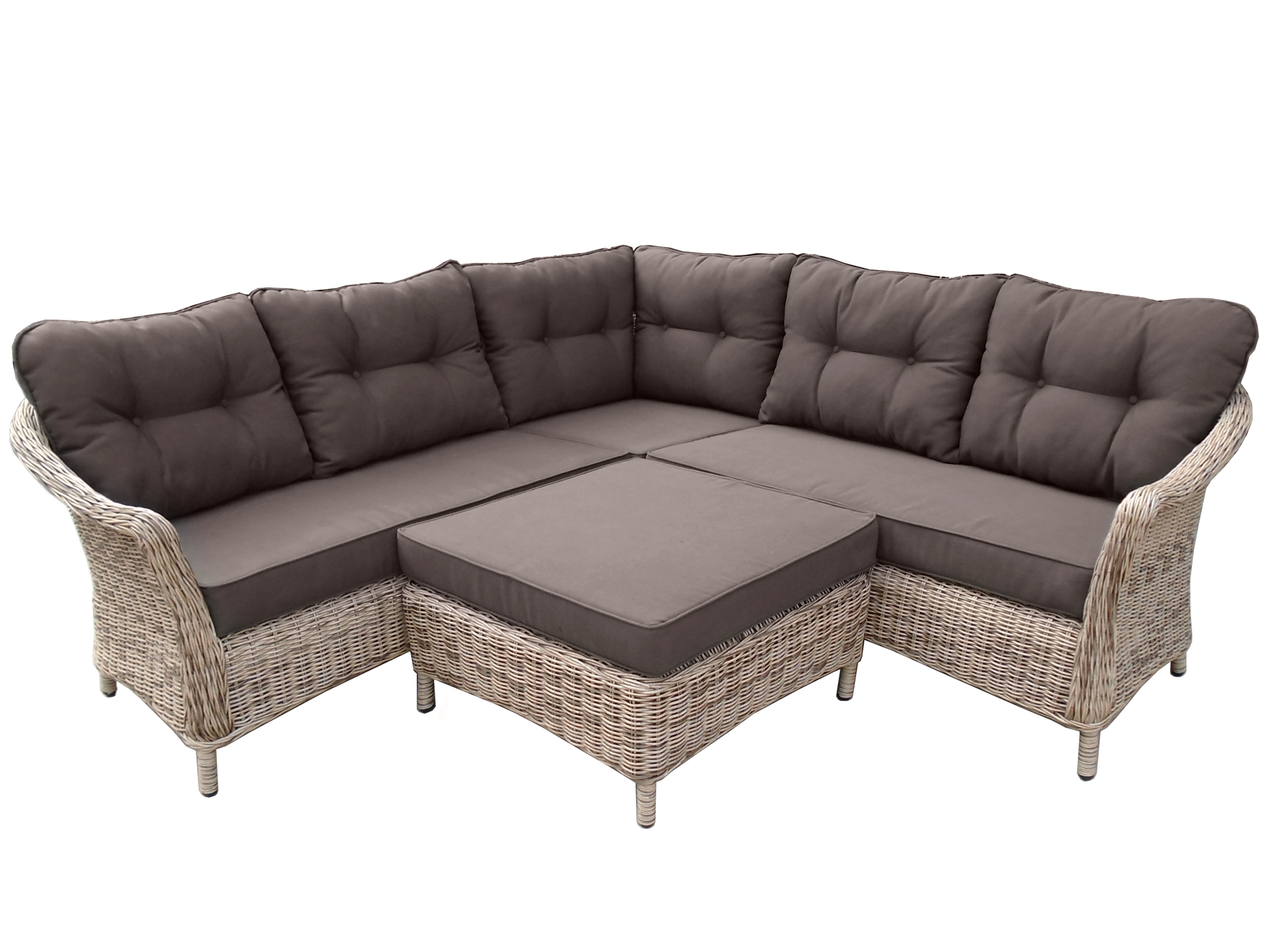 4 teilige lounge ecke coventry rattanoptik gartenm bel l nse. Black Bedroom Furniture Sets. Home Design Ideas