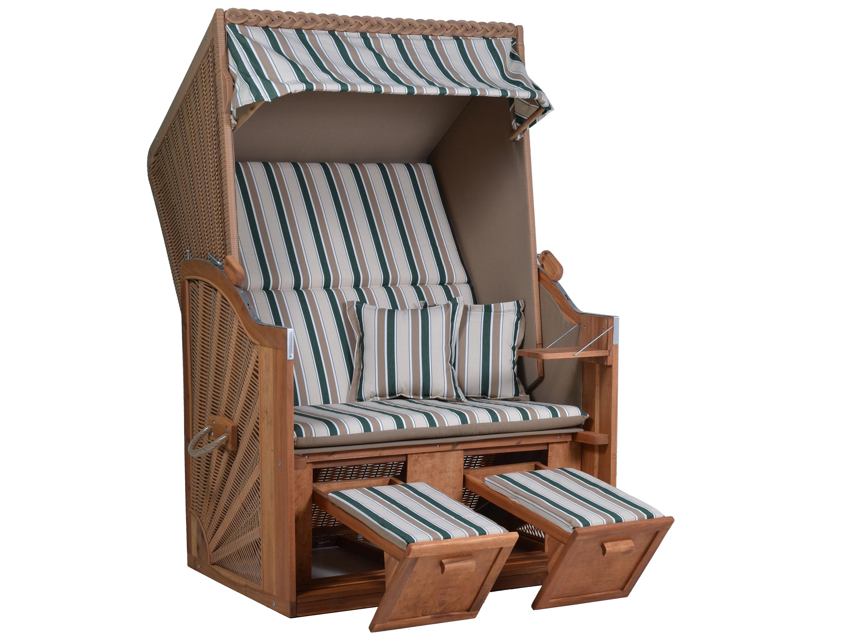 strandkorb deutsche ostsee gr n beige gestreift gartenm bel l nse. Black Bedroom Furniture Sets. Home Design Ideas