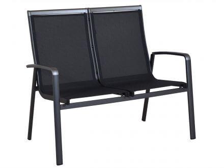 Lünse Alu Gartenbank Bristol 2-Sitzer anthrazit|anthrazit