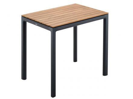 Vorschau: solpuri Soft Alu Teak Dining Tisch