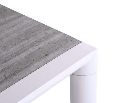 Vorschau: Lünse Alu Keramik Gartentisch Hartford 194x90cm weiß