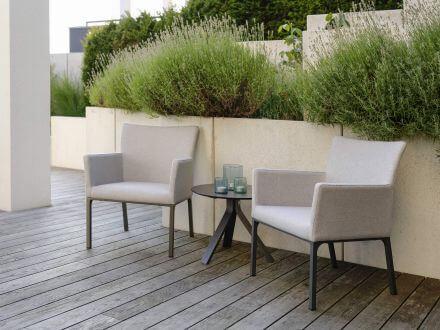 Vorschau: Stern Artus Lounge-Sessel Alu Outdoorstoff kristall silber