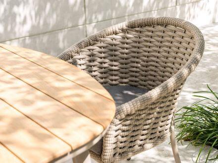 Vorschau: Alexander Rose Alu Gartentisch Cordial beige Roble Tischplatte