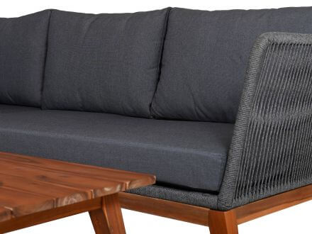 Vorschau: Lünse Rope Holz Eck Loungeset Amaryllis shaded-grey