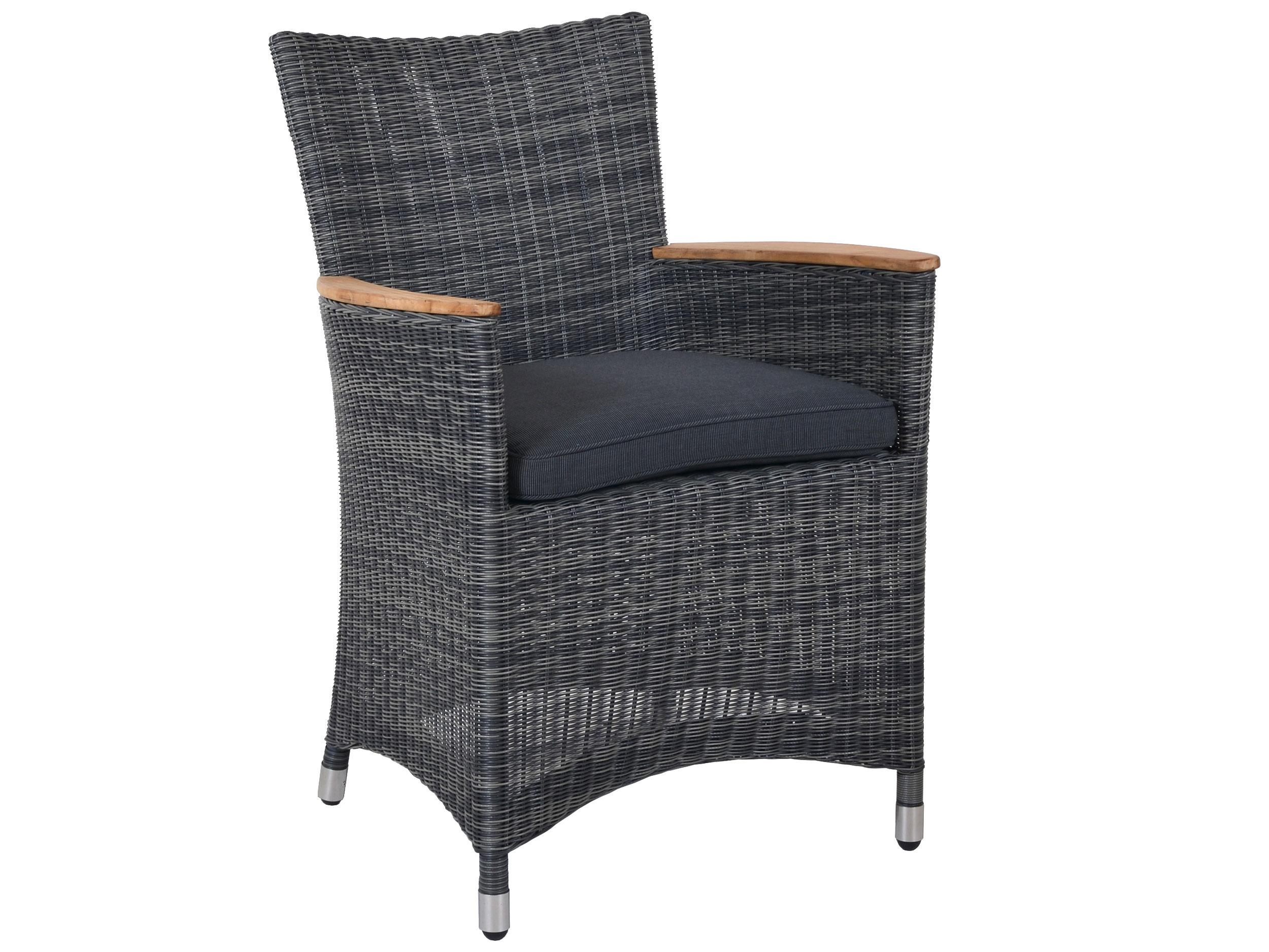polyrattan sessel long island geflecht stone gartenm bel l nse. Black Bedroom Furniture Sets. Home Design Ideas