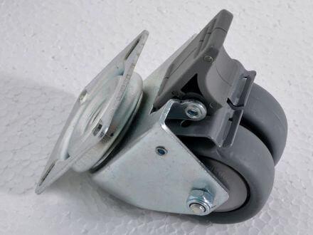 Vorschau: 2 Doppel-Laufrollen mit Bremse