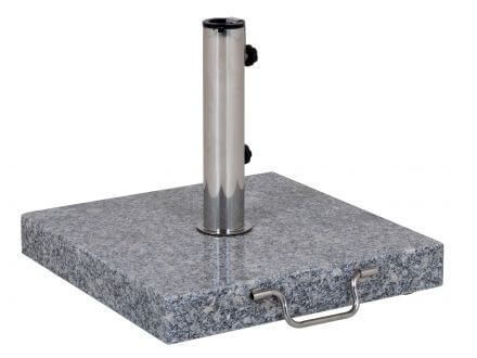 Schirmständer 35kg Granit grau 45x45cm