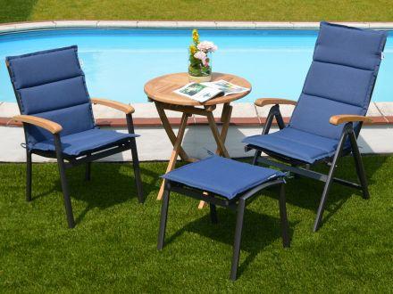 Vorschau: Auflagen Malibu für Gartenmöbel mit Outdoorgewebe-Bespannung